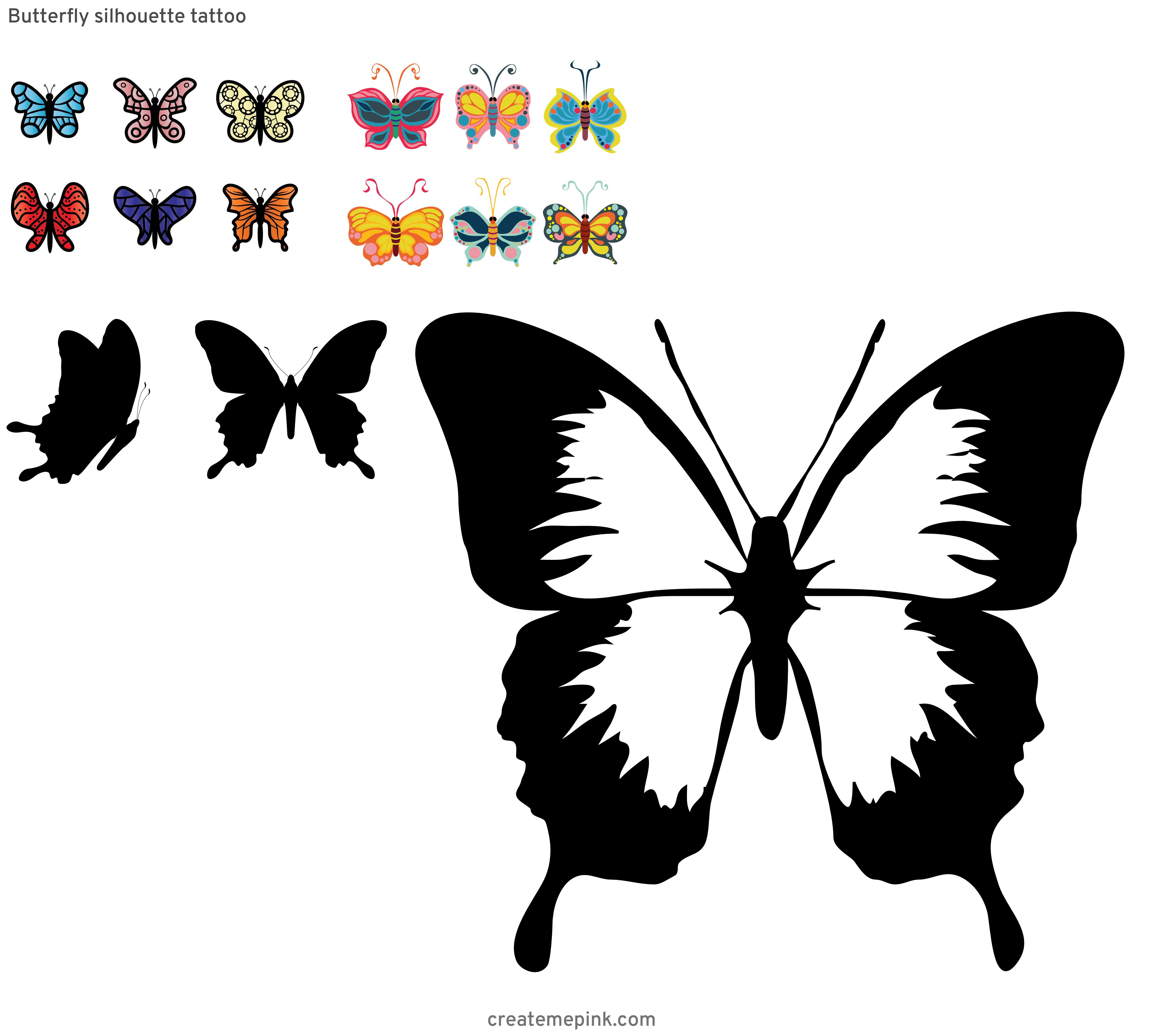 Butterfly Vector Graphics Clip Art: Butterfly Silhouette Tattoo