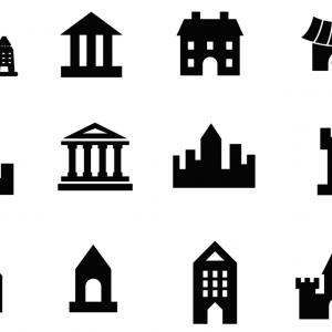 Architecture Vector: Attic Cottage Thin Line Icon Architecture Vector Illustration Isolated On White Gm