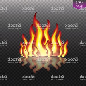 Fire Flames Background Vector: Burning Fire Flames On Transparent Background Vector Special Light Effect Gm