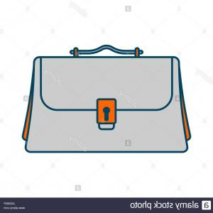 Vector Briefcase Icon Office: Business Briefcase Isolated Icon Office Suitcase For Documents Image