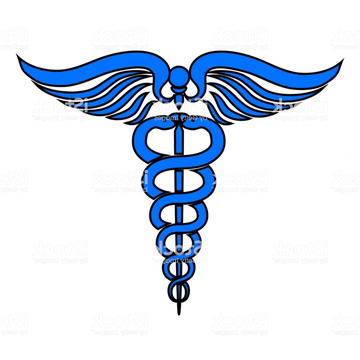 Medical Scepter Vector: Caduceus Medical Symbol Vector Gm