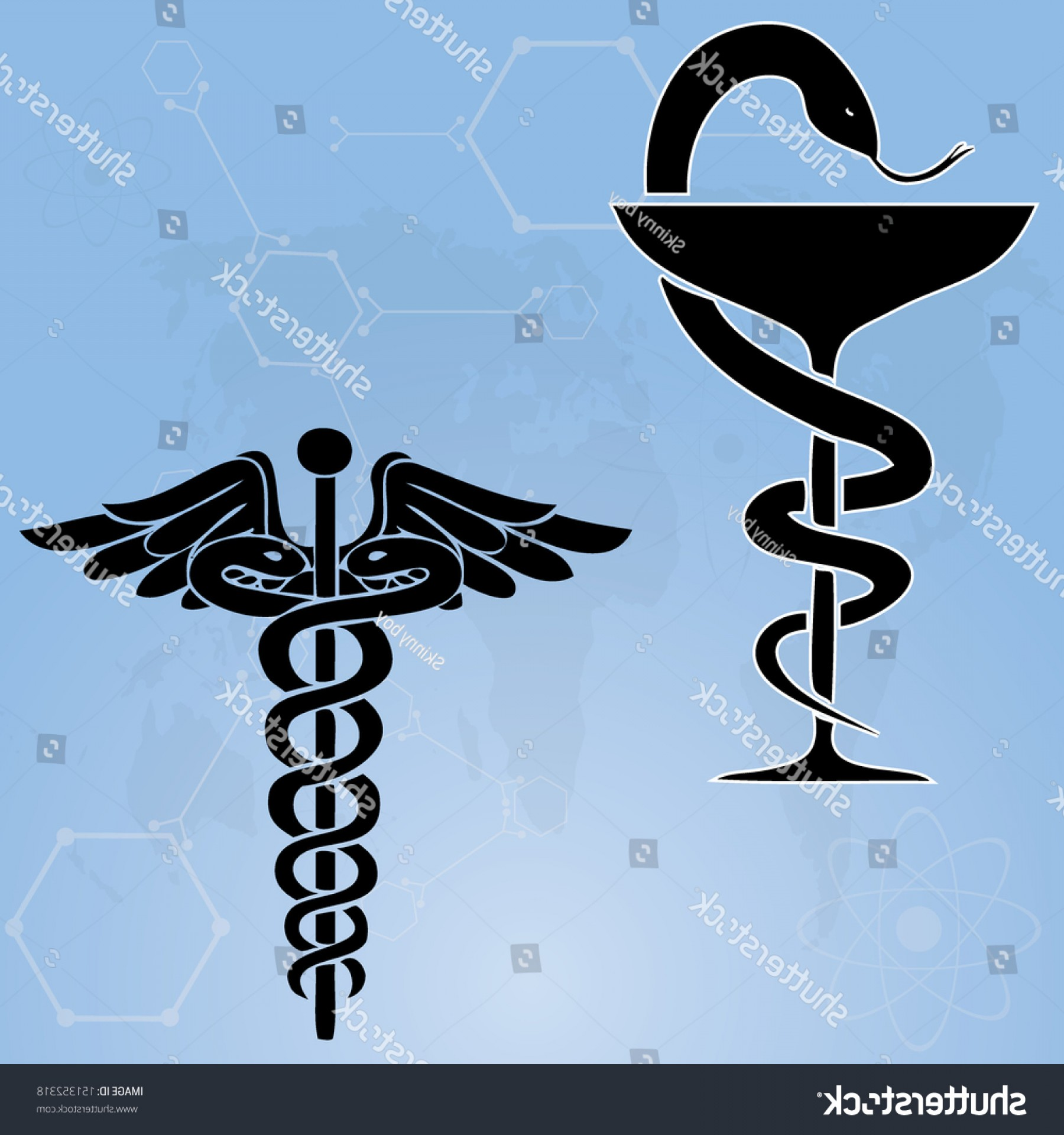 Medical Scepter Vector: Caduceus Medical Symbol Vector Illustrationeps