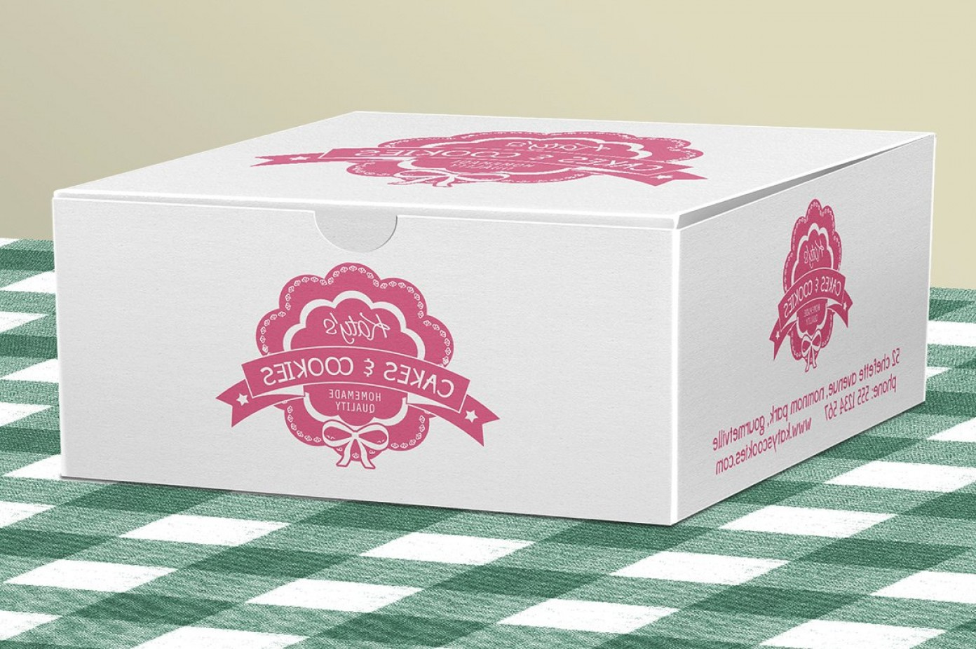PSD Vector Vintage Cake: Cake Box For Bakery Pastries