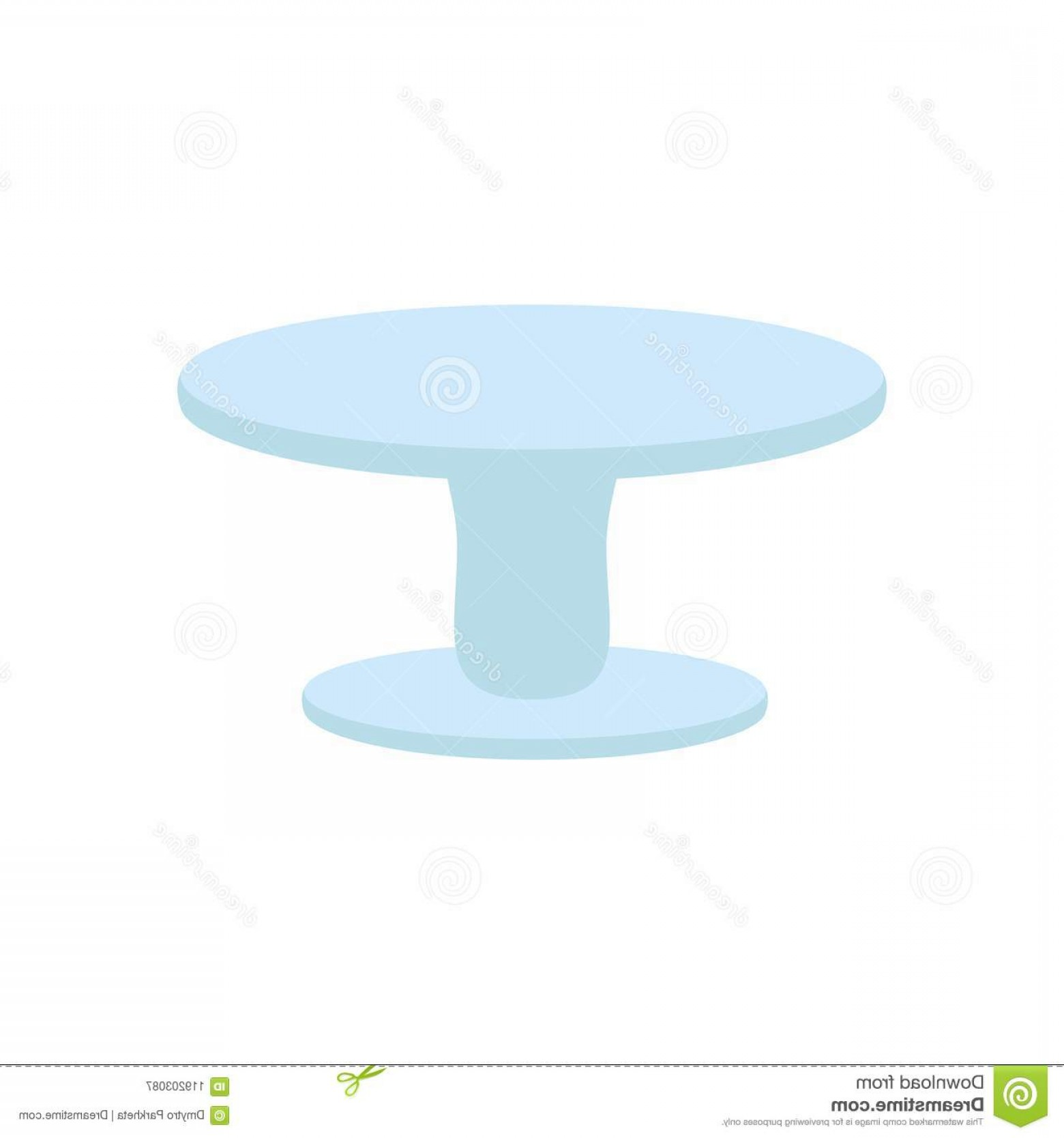Cake Stand Vector: Cake Stand Illustration White Background Vector Image