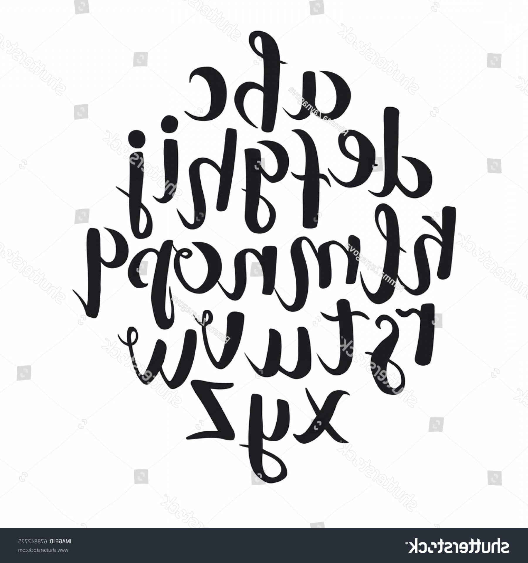 ABC News Logo Vector: Calligraphic Vector Font Hand Drawn Modern