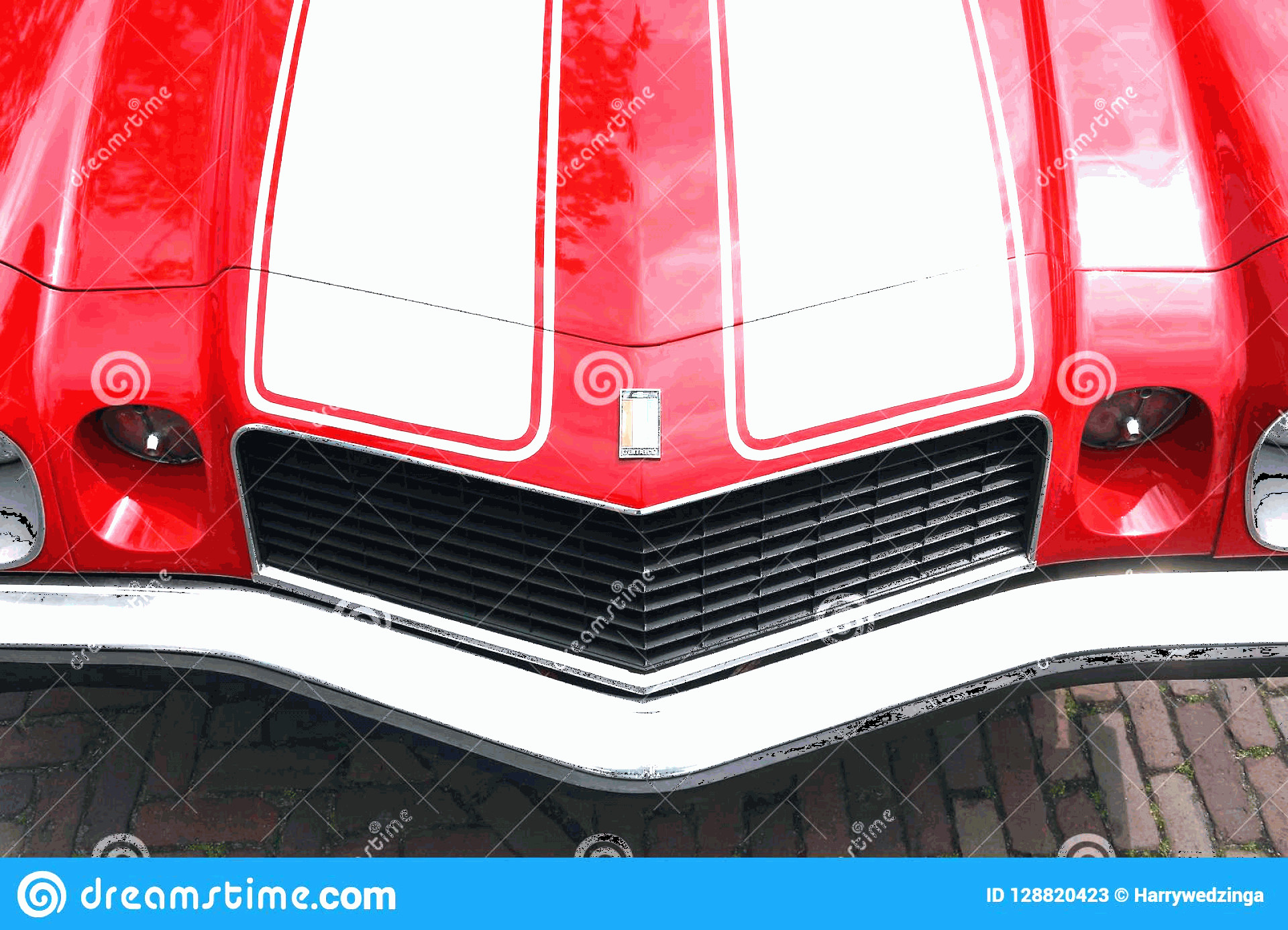 Camaro SS Logo Vector: Camaro Engine Hood Logo Shield Franeker Friesland Netherlands May Top View Classic Red White Striped Chevrolet Image