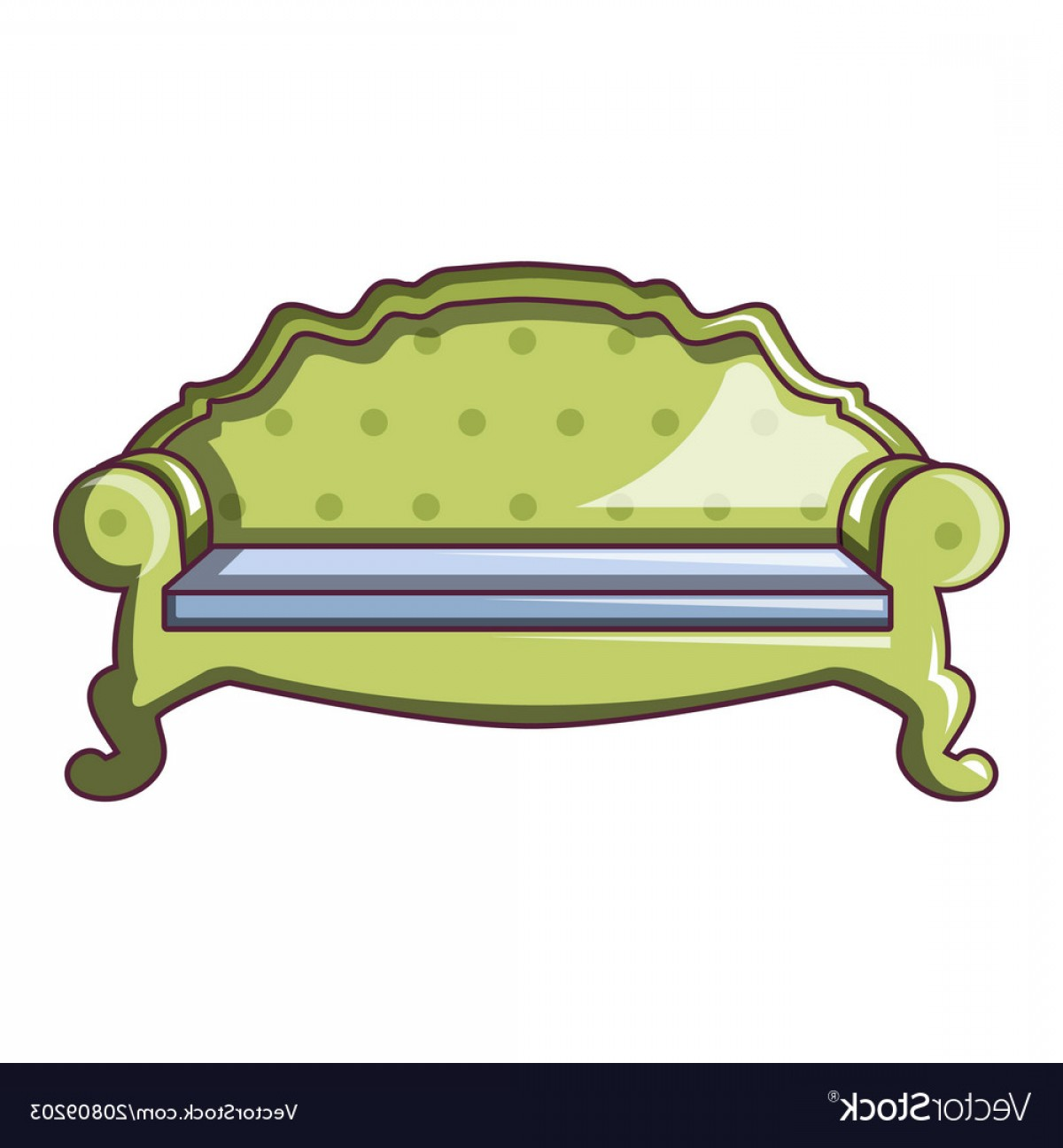 Back Of The Couch Vector: Camel Back Sofa Icon Cartoon Style Vector