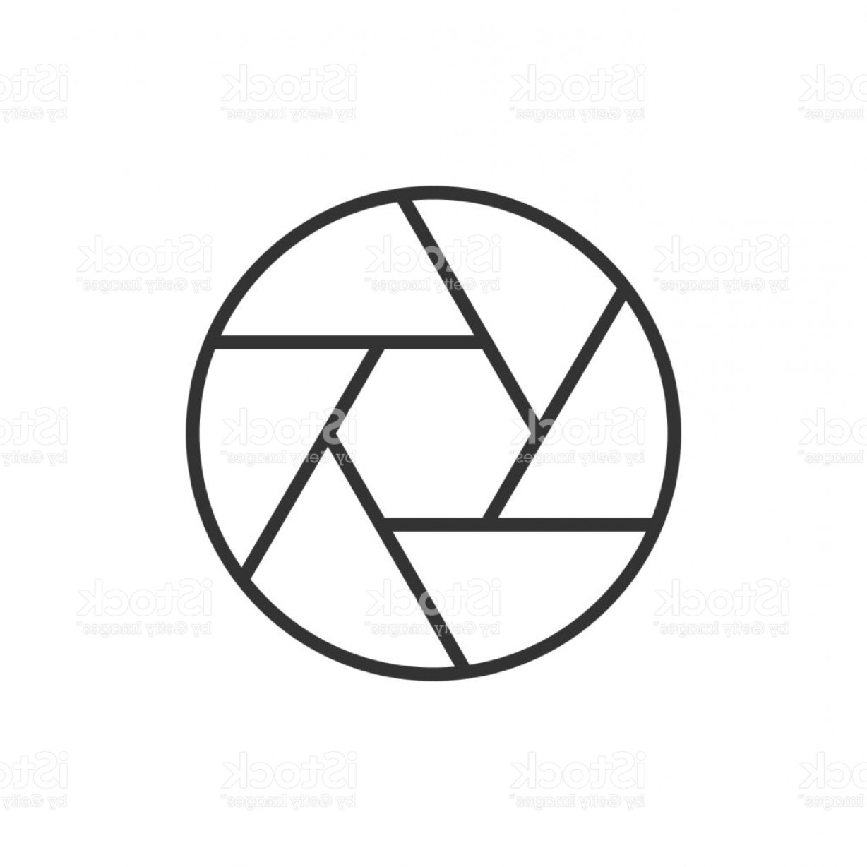 Camera Outline Vector Graphic: Camera Objective Outline Icon Gm