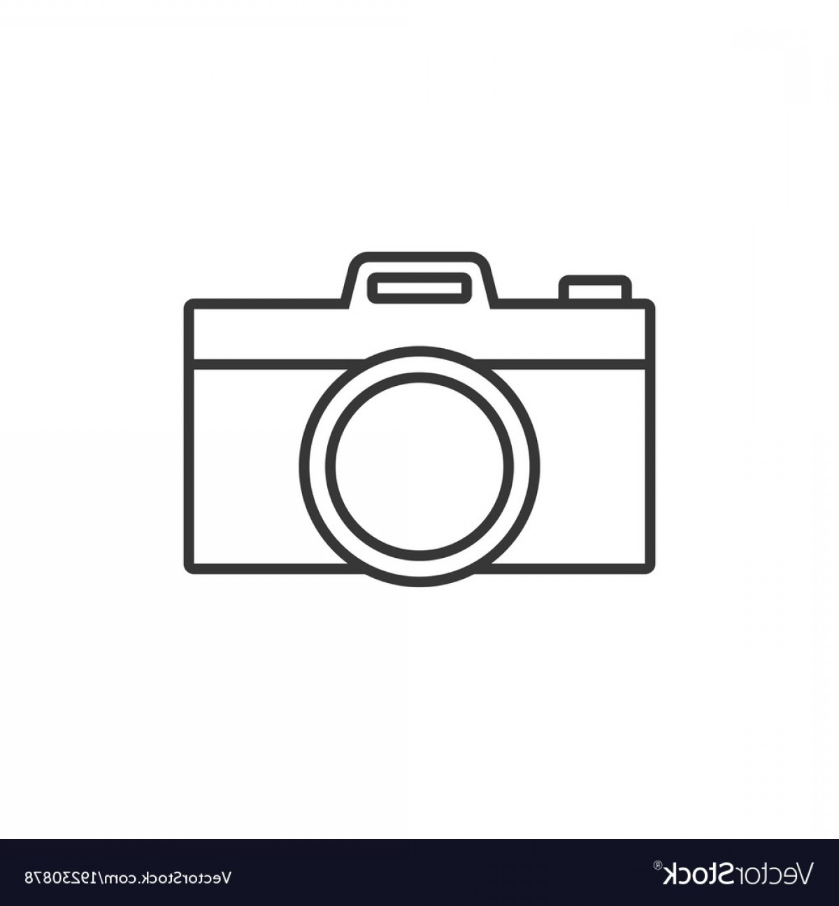 Camera Outline Vector Graphic: Camera Simple Outline Icon Vector