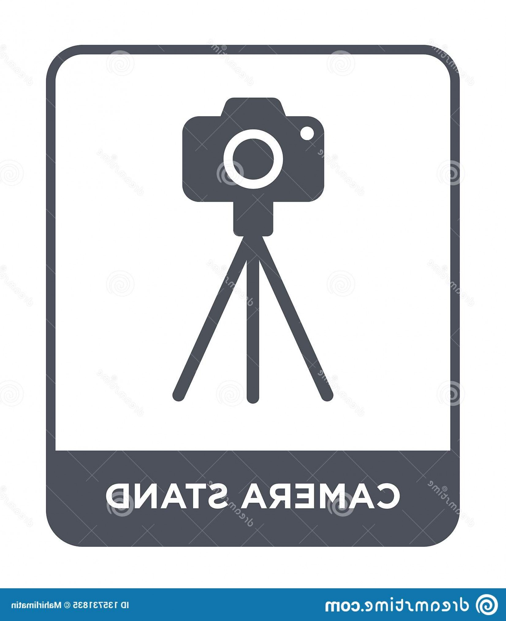 Vector Camera Stand: Camera Stand Icon Trendy Design Style Isolated White Background Vector Simple Modern Flat Symbol Web Site Mobile Image