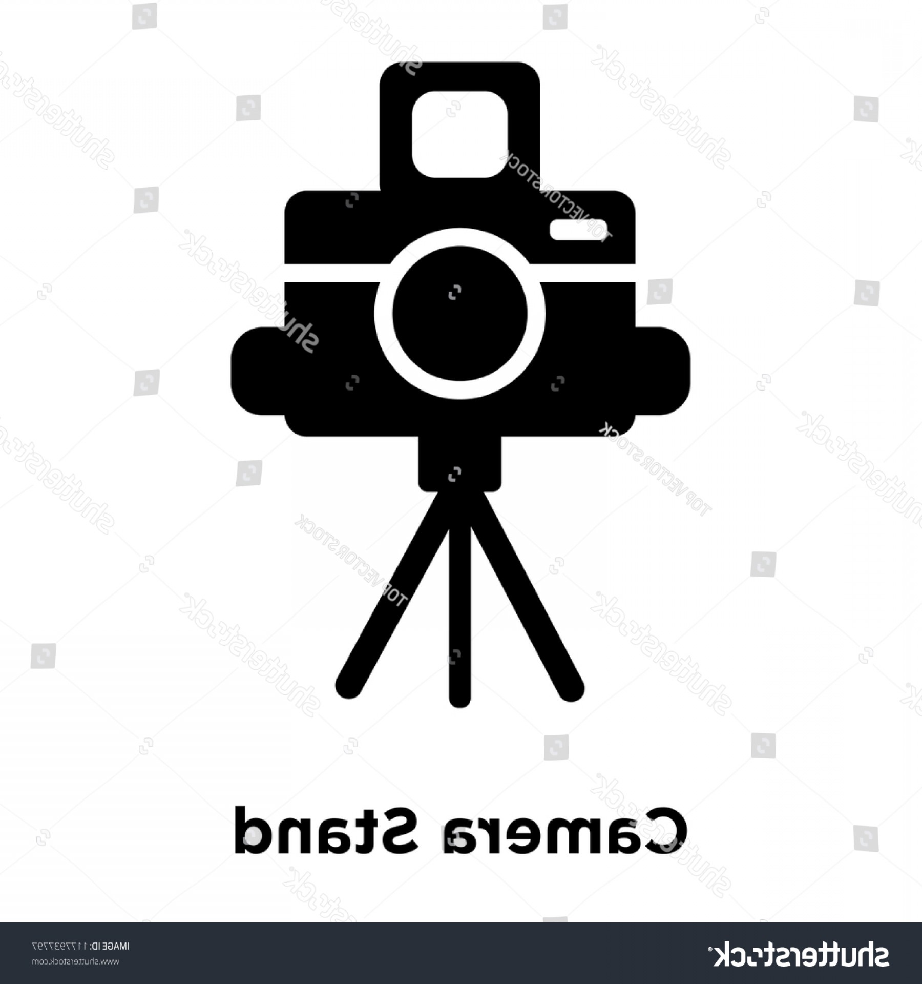 Vector Camera Stand: Camera Stand Icon Vector Isolated On