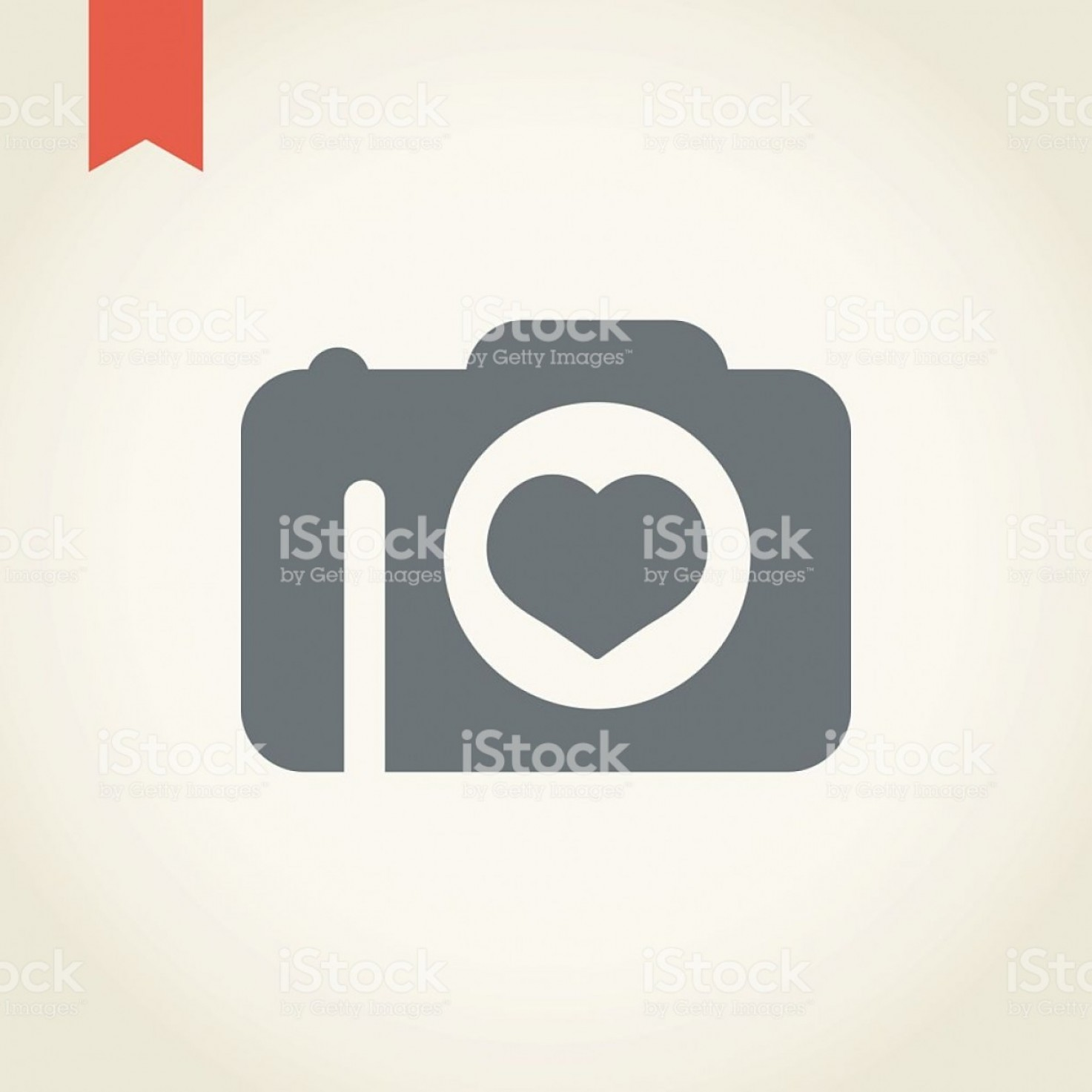 GM Logo Vector: Camera With Heart Shape Icon Gm