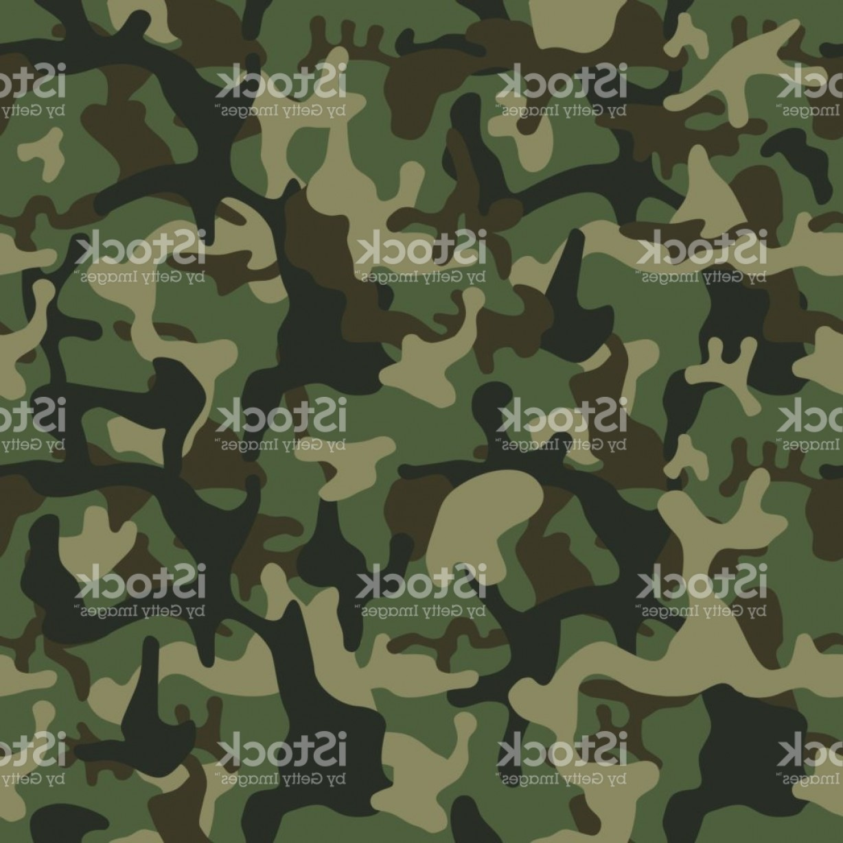 Army Camouflage Pattern Vector: Camouflage Pattern Background Seamless Vector Illustration Classic Clothing Style Gm
