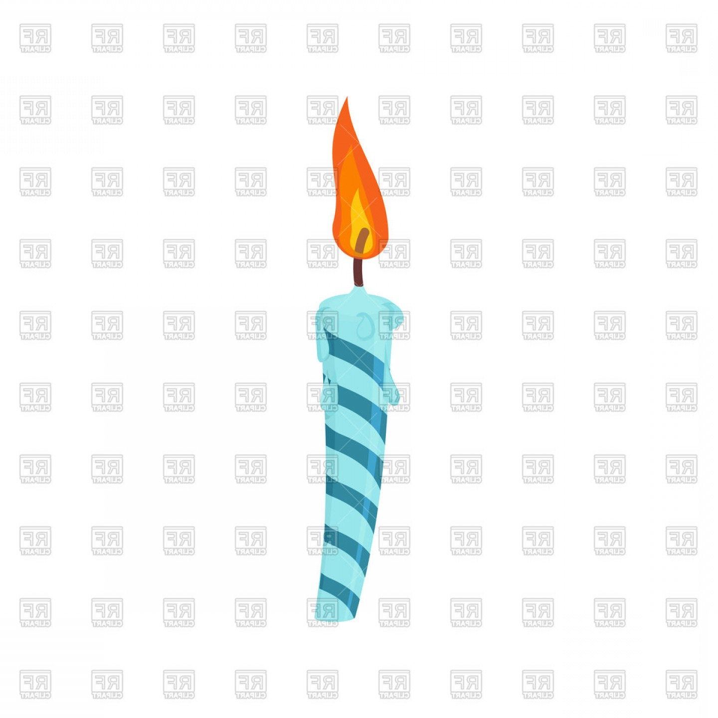 Birthday Candle Vector Art: Candle Birthday Cake Vector Clipart