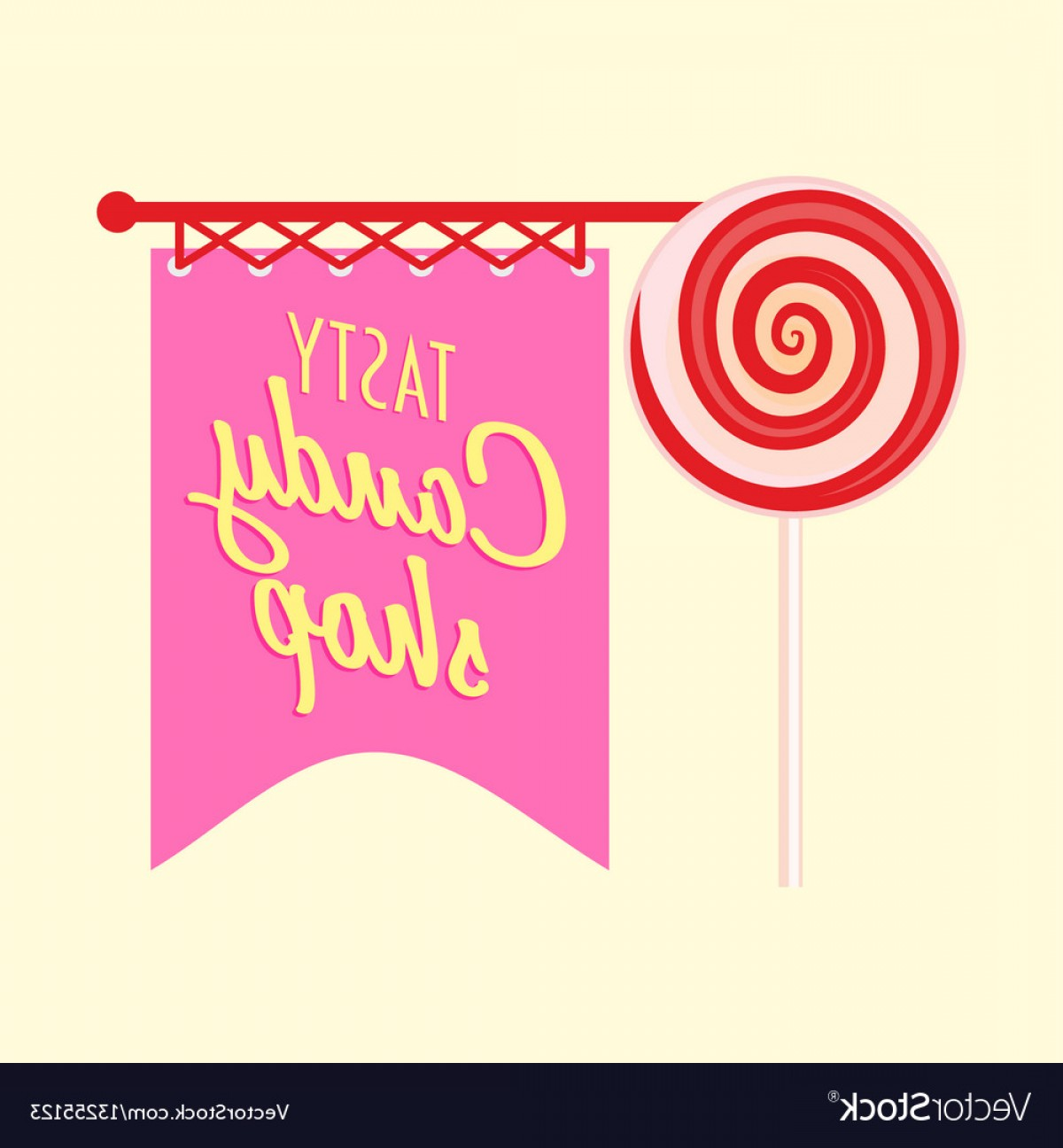 Candy Shop Vector: Candy Shop Or Store Logo Label Or Badge Design Vector