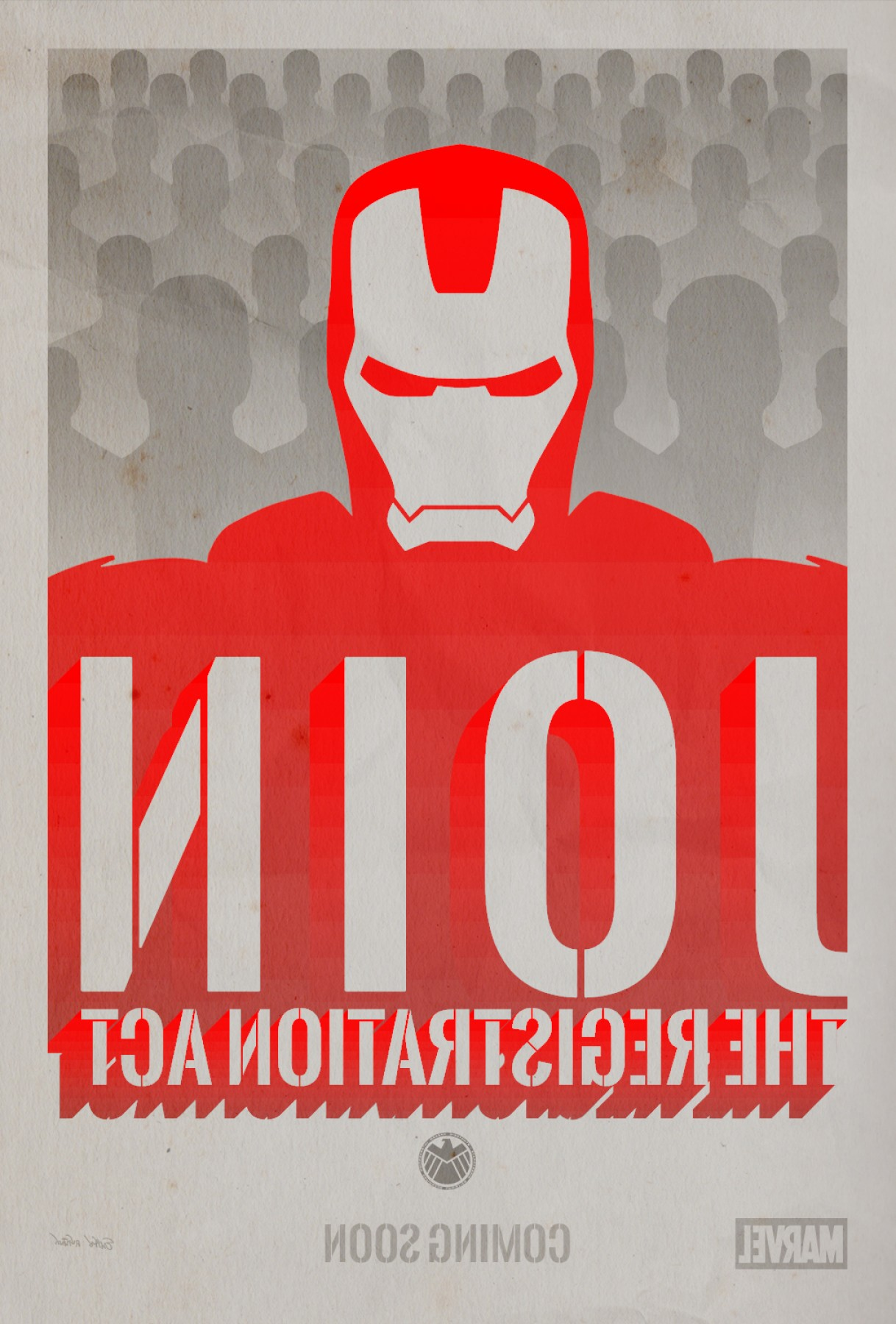Propaganda Art Poster Vector: Captain America Civil War Propaganda Poster
