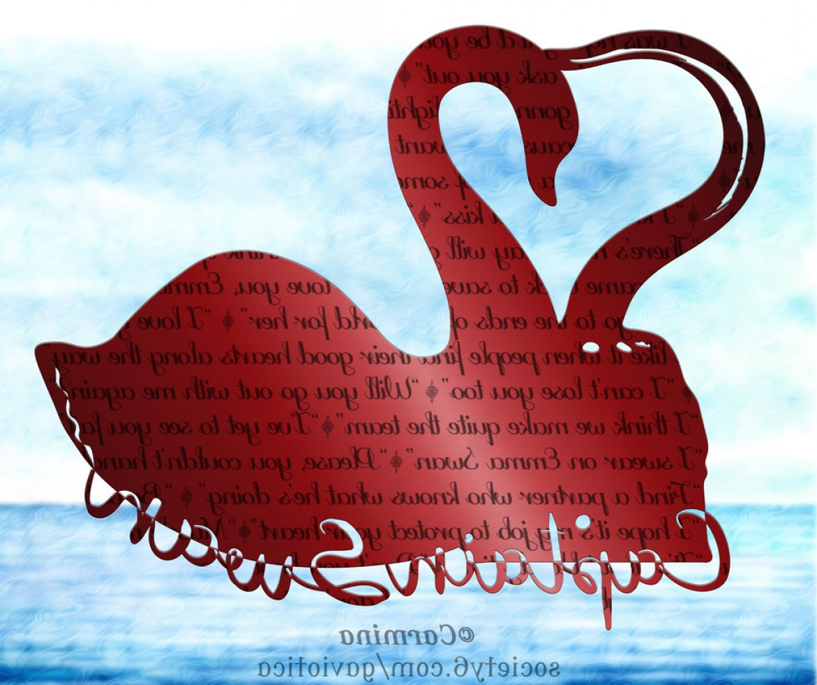 Swan Silhouette Vector: Captain Swan Silhouette With Quotes Wallpaper