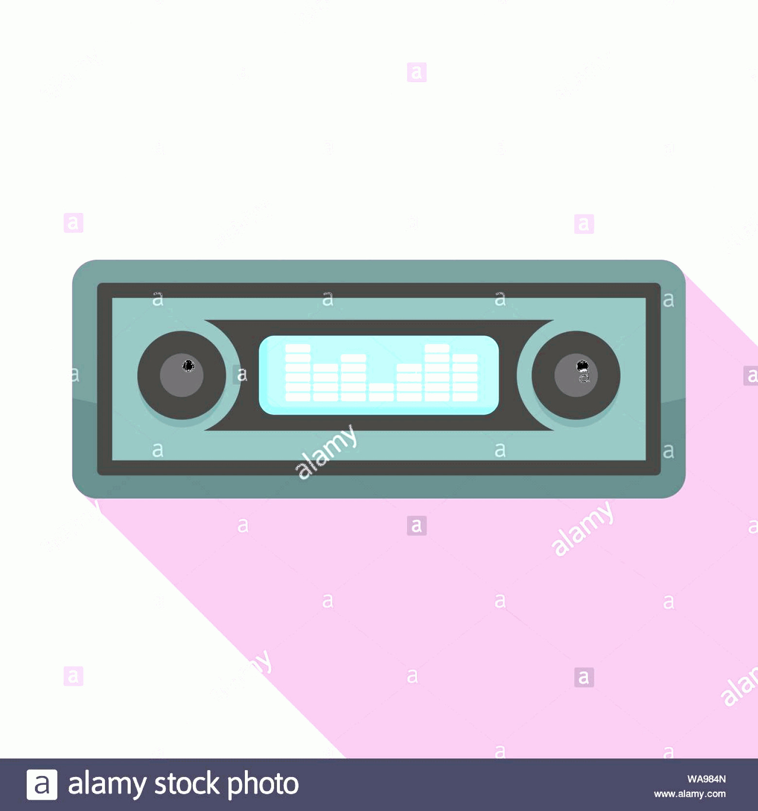 Car Audio Vector: Car Audio Icon Flat Illustration Of Car Audio Vector Icon For Web Design Image