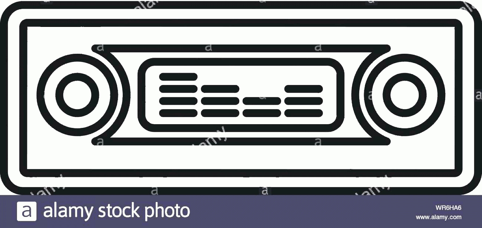 Car Audio Vector: Car Audio Icon Outline Car Audio Vector Icon For Web Design Isolated On White Background Image