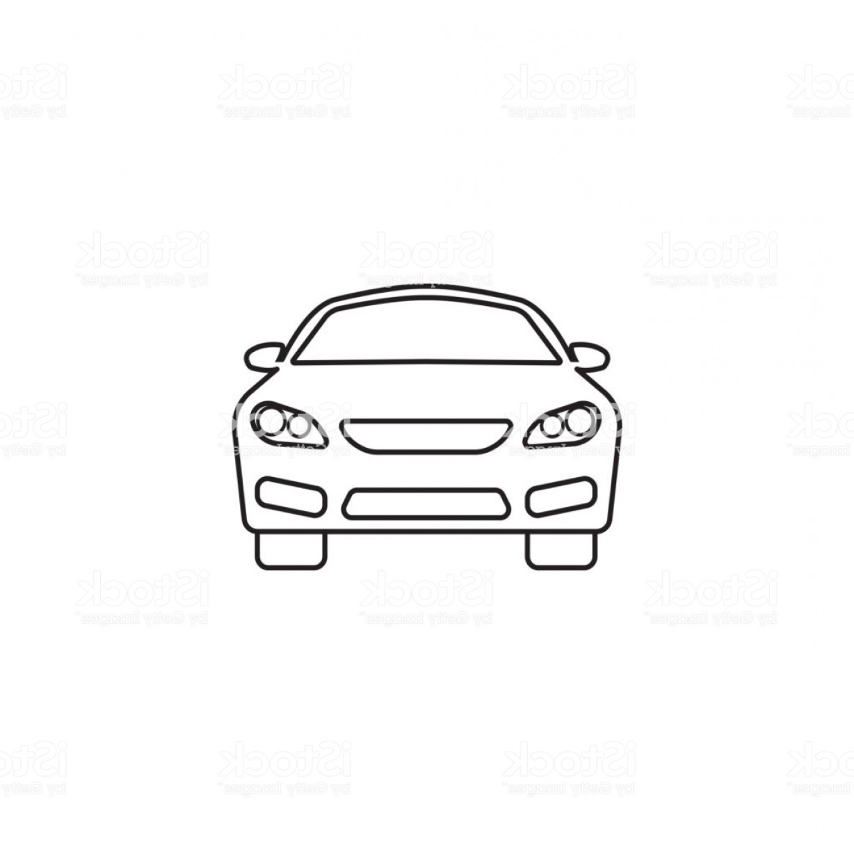 Auto Mobile Vector Art: Car Icon Automobile Symbol Vector Graphics Gm