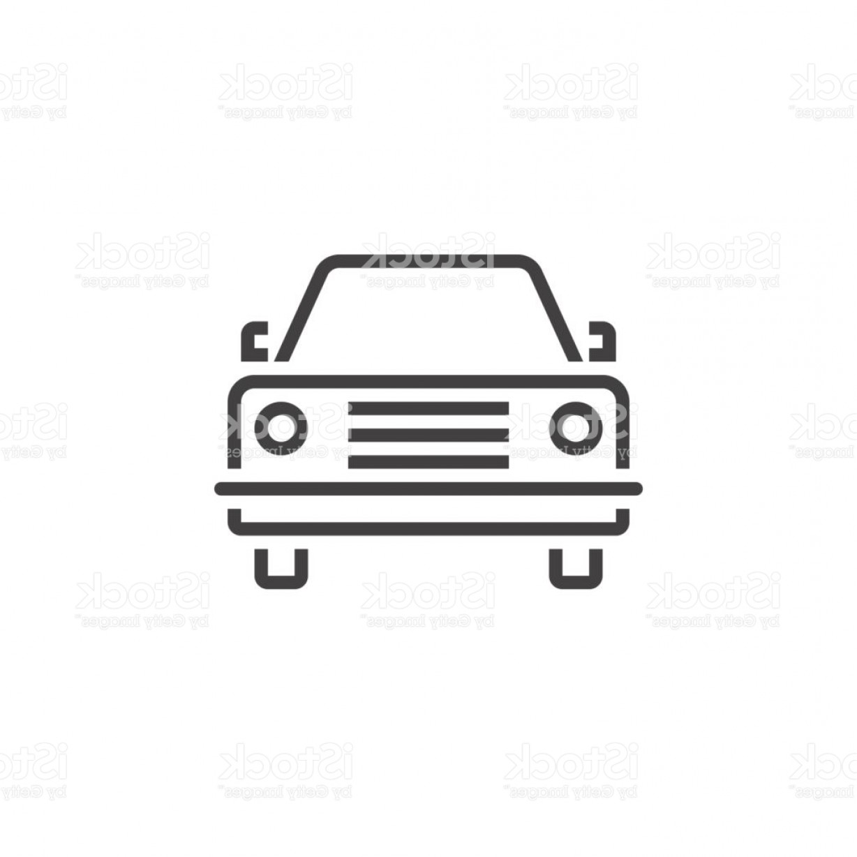 Auto Mobile Vector Art: Car Line Icon Outline Automobile Vector Logo Linear Pictogram Isolated On White Gm