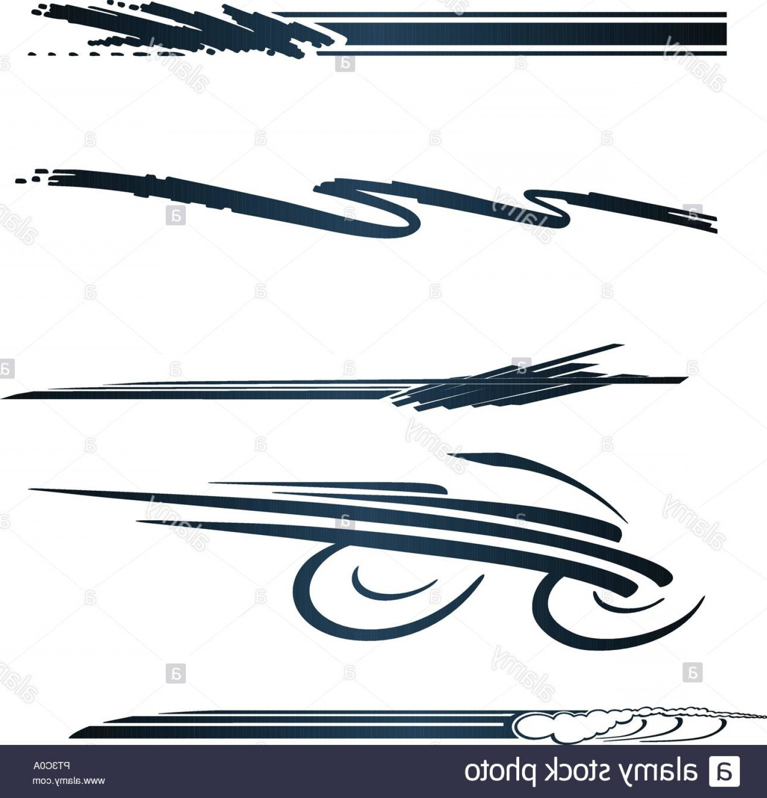 Black And White Vector Racing Graphics: Car Motorcycle Racing Vehicle Graphics Vinyls Decals Image