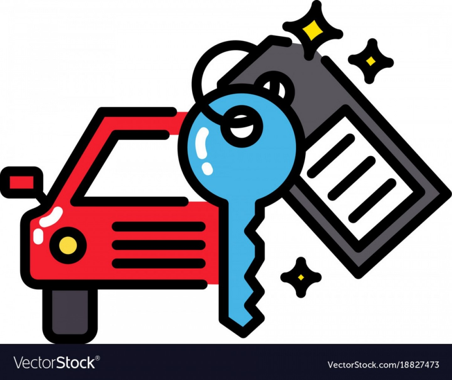 Dispicable Me Vectors House: Car Rental Or Sharing Economy Concept Icon Vector