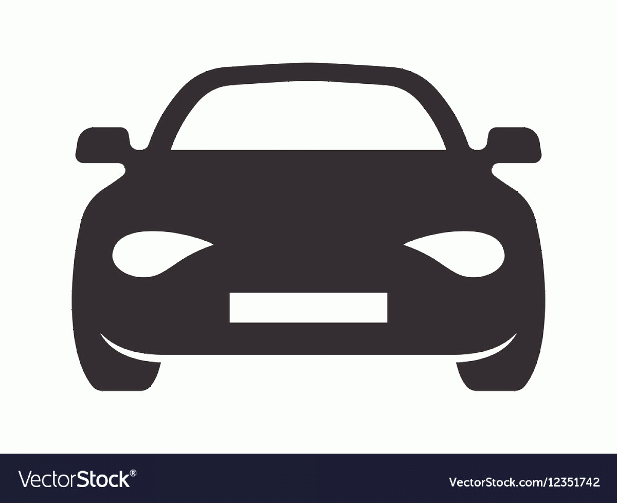 Vector Car: Car Simple Icon Resize Vector