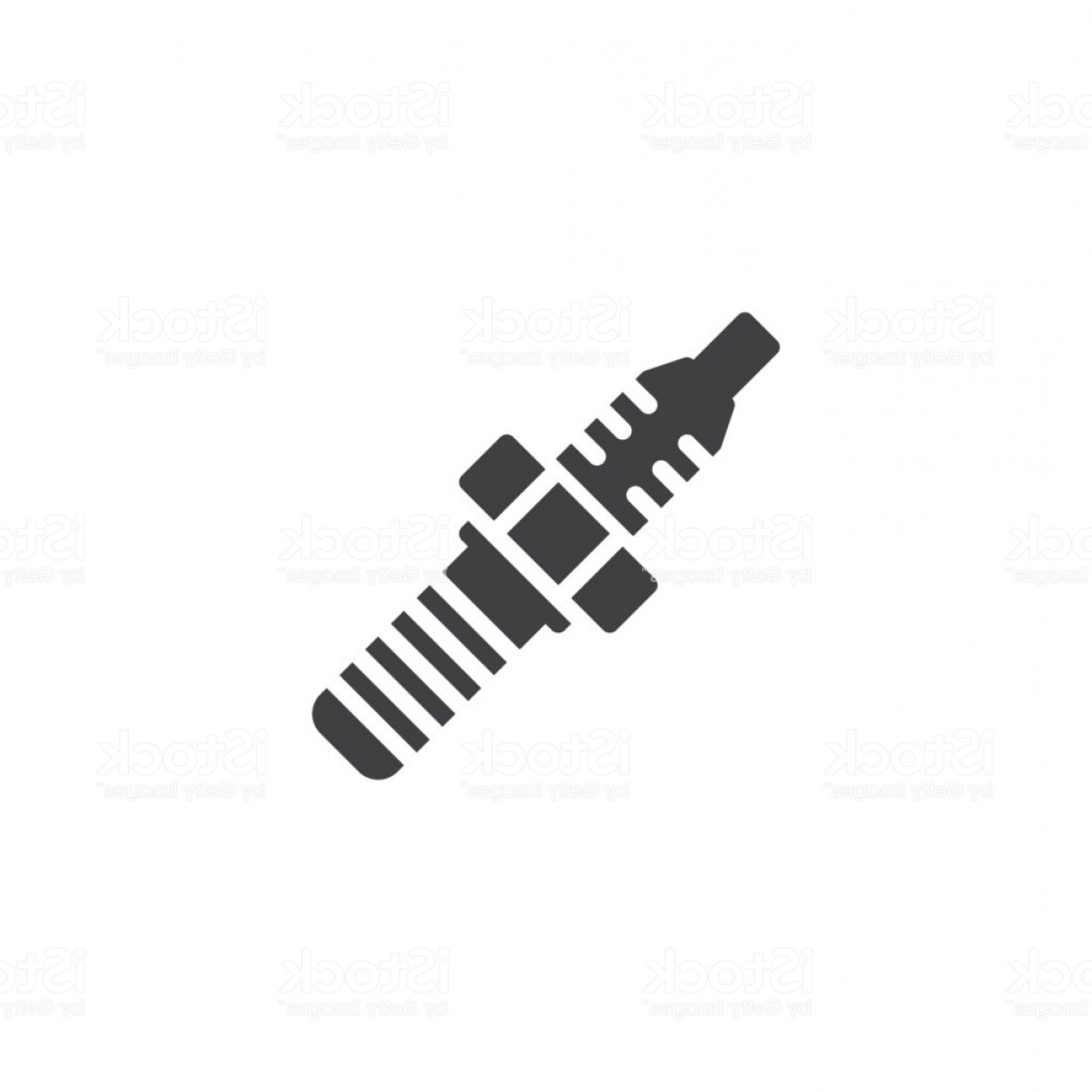 Spark Plug Vector: Car Spark Plug Vector Icon Gm