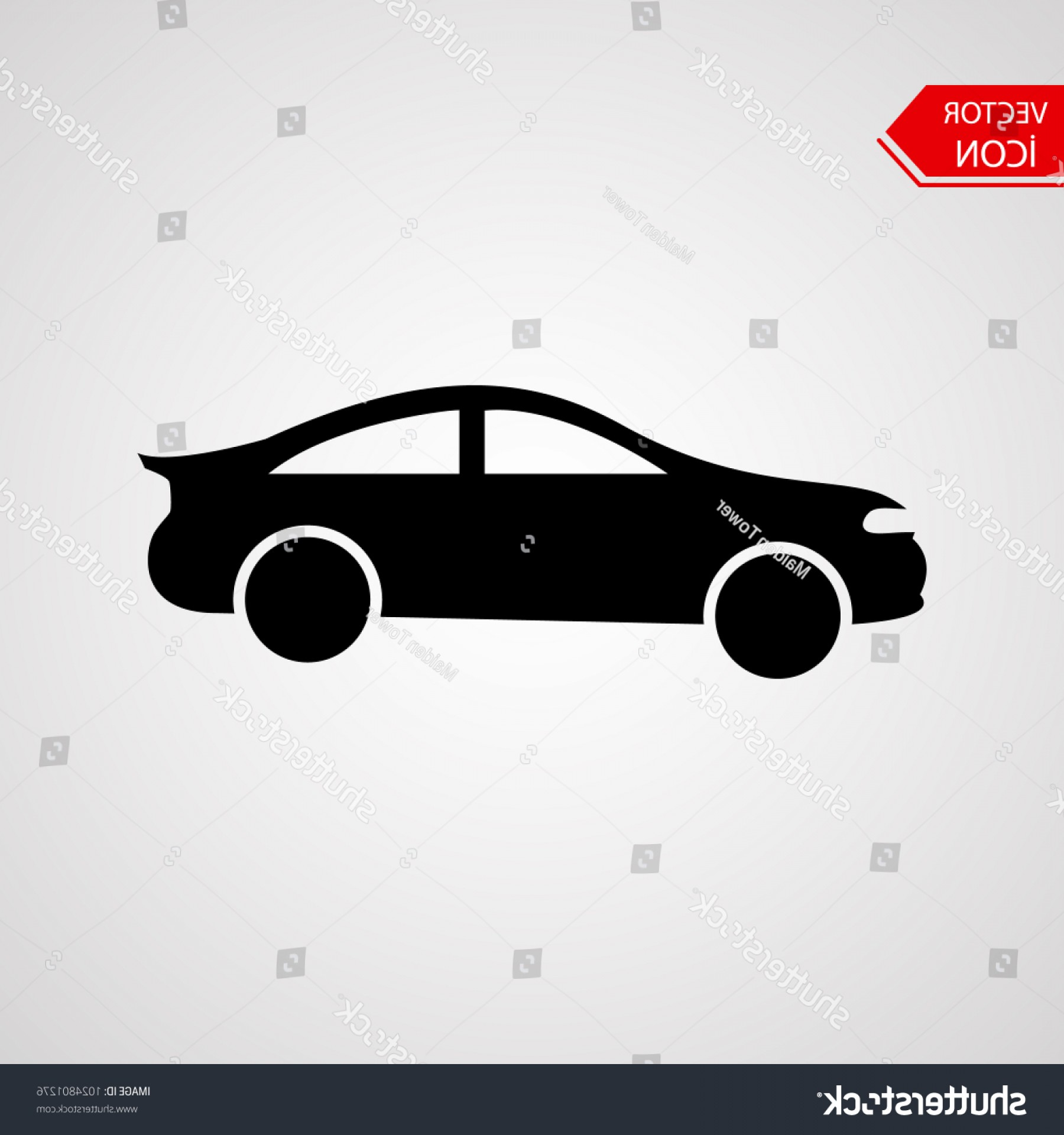 Mitsubishi Eclipse Vector: Car Vector Icon Isolated Simple Front