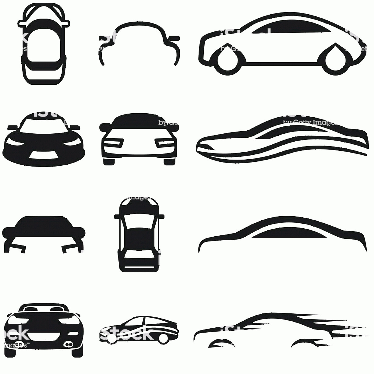 Vector Car: Car Vector Icon Set On Gray Gm