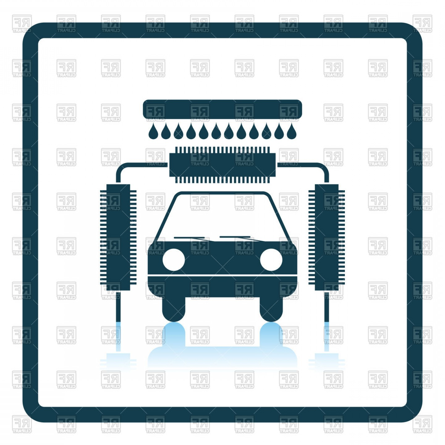 Car Wash Vector Graphics: Car Wash Icon Vector Clipart