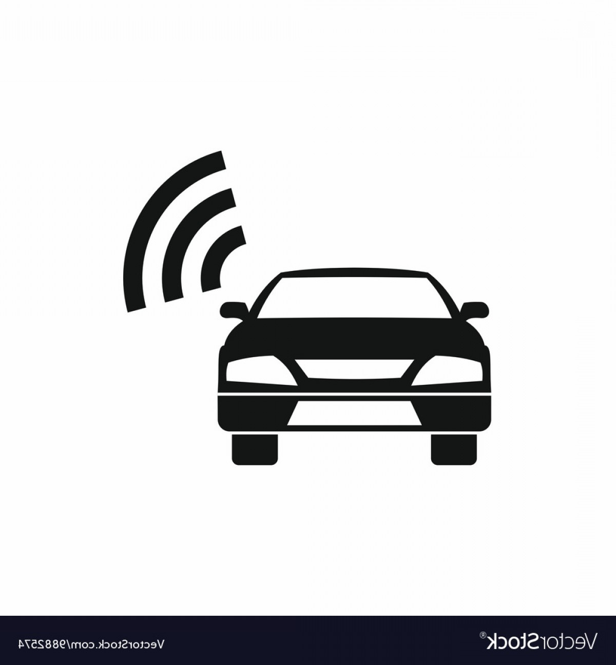 Saab 9 3 Vector Clip Art: Car With Wifi Sign Icon Simple Style Vector