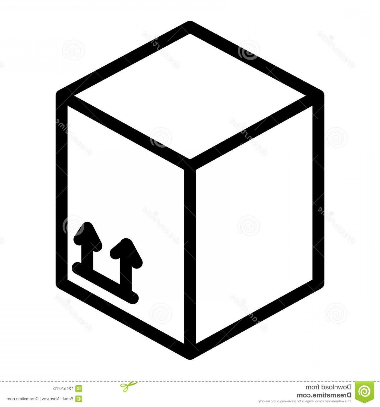 Box Outline Vector: Carton Box Line Icon Package Box Vector Illustration Isolated White Cardboard Box Outline Style Design Designed Carton Box Line Image