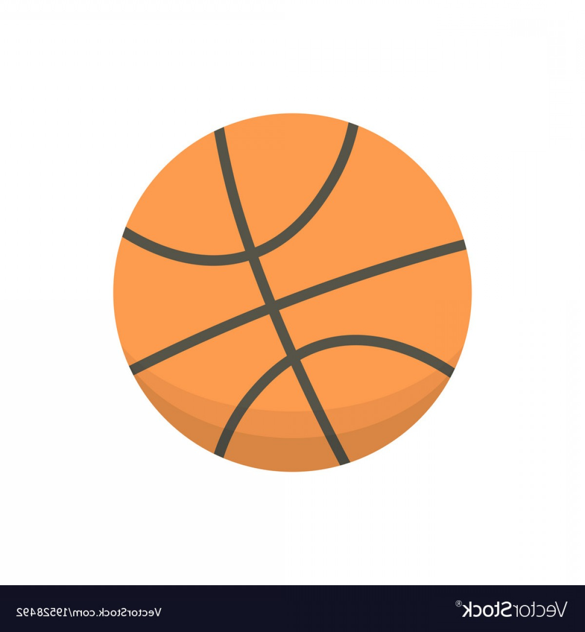 Cartoon Basketball Vector: Cartoon Basketball Ball Isolated Vector