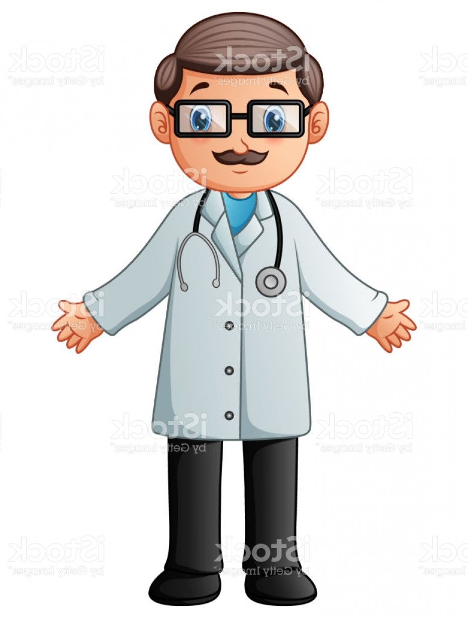 Lab Coat Cartoon Vector: Cartoon Doctor Wearing Lab White Coat With Stethoscope Gm