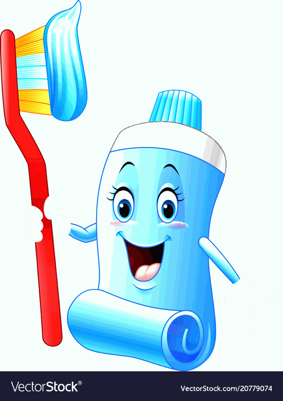 Toothpaste Cartoon Vector: Cartoon Funny Toothpaste And Toothbrush Vector
