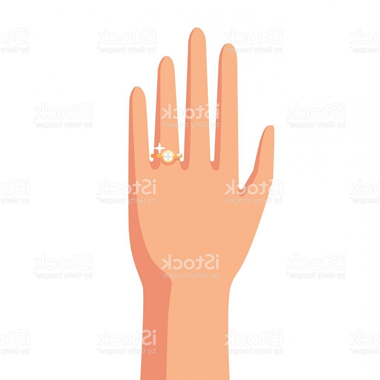 Hand With Ring Silhouette Vector: Cartoon Hand With Ring Gm