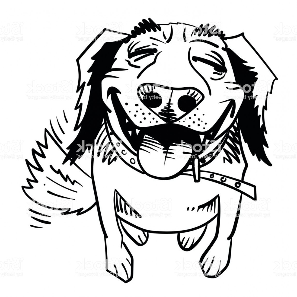 Bpxer Vector Art Happy Dog: Cartoon Image Of Happy Dog Gm