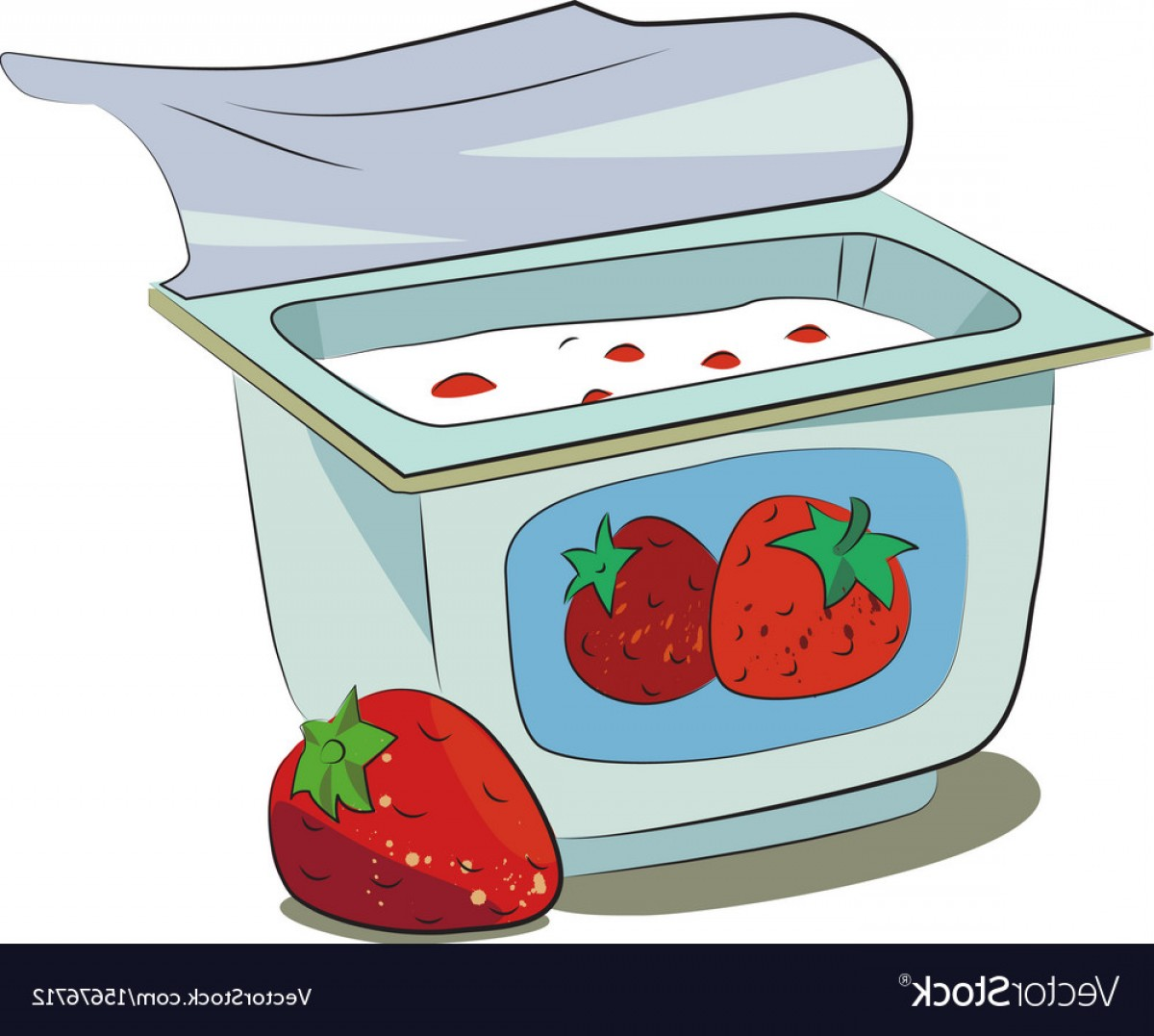 Cartoon Image Of Yogurt Vector | CreateMePink