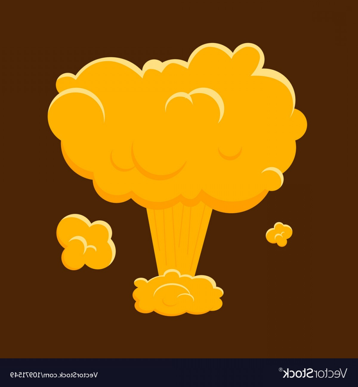 Atomic Bomb Explosion Vector: Cartoon Nuclear Bomb Explosion Vector