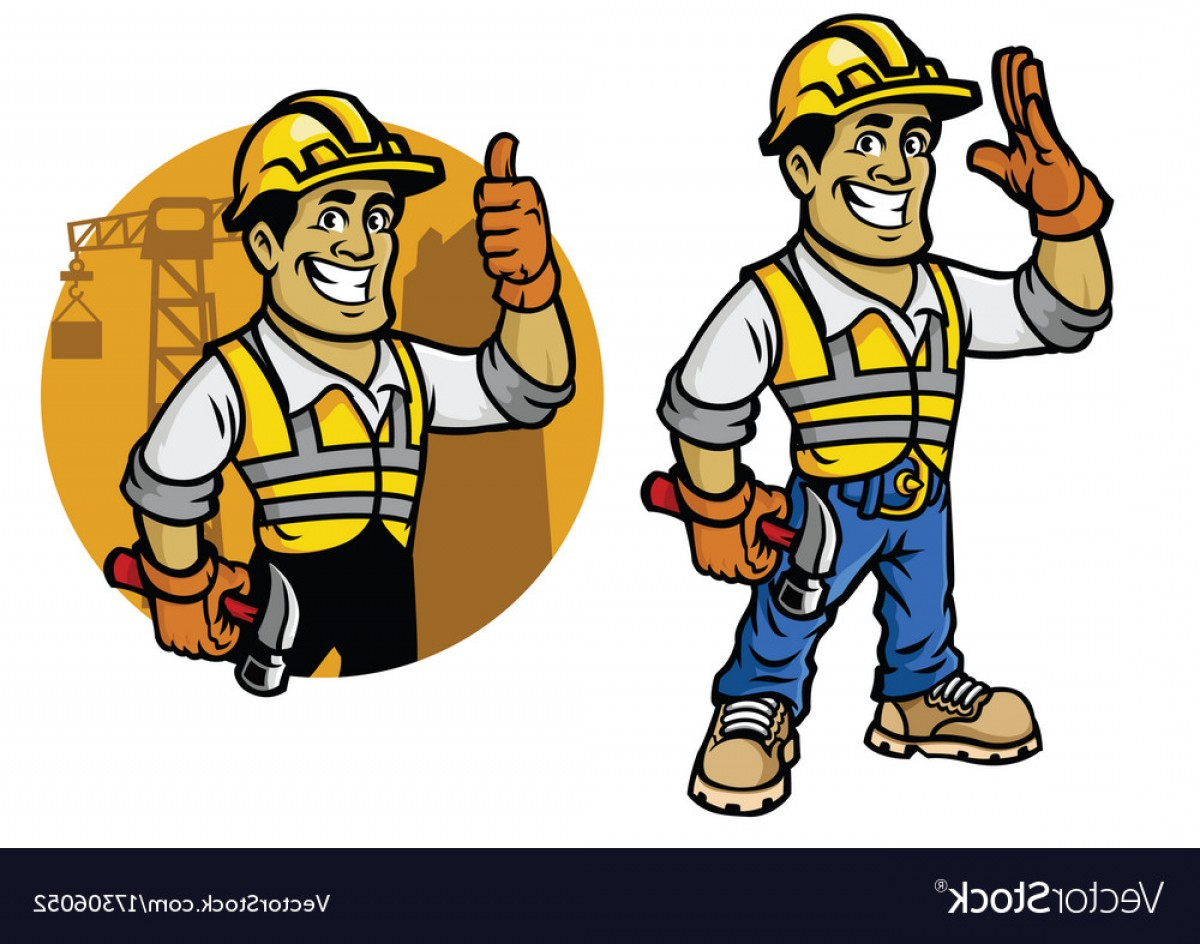 Worker Vector: Cartoon Of Construction Worker Vector