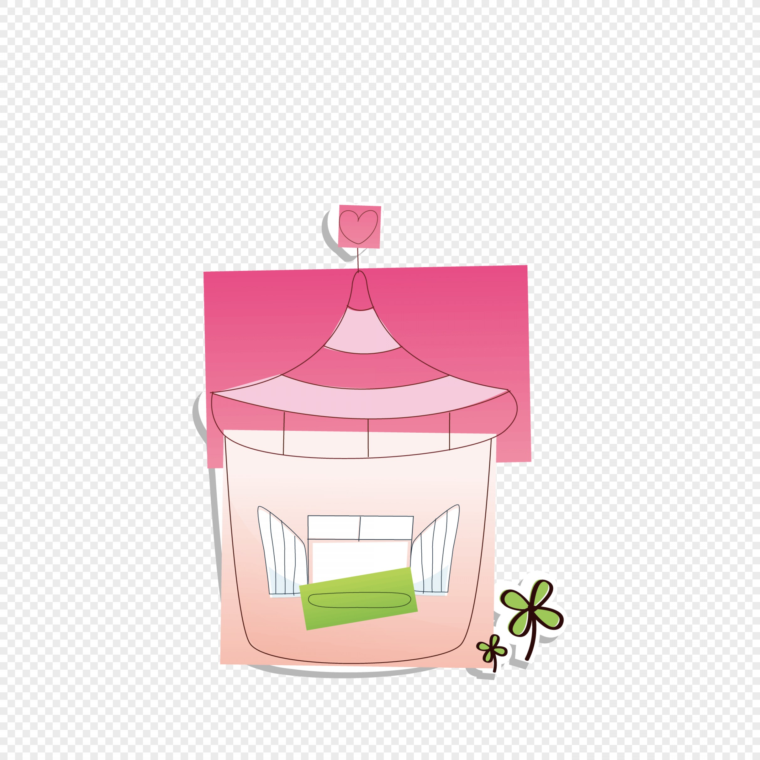 Shed PNG Vector: Cartoon Paper Cut Small House Vector
