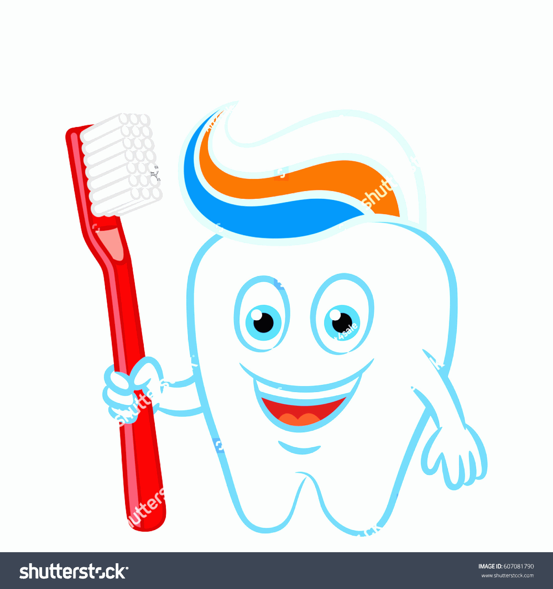 Toothpaste Cartoon Vector: Cartoon Tooth Toothbrush Toothpaste Prepared Brush