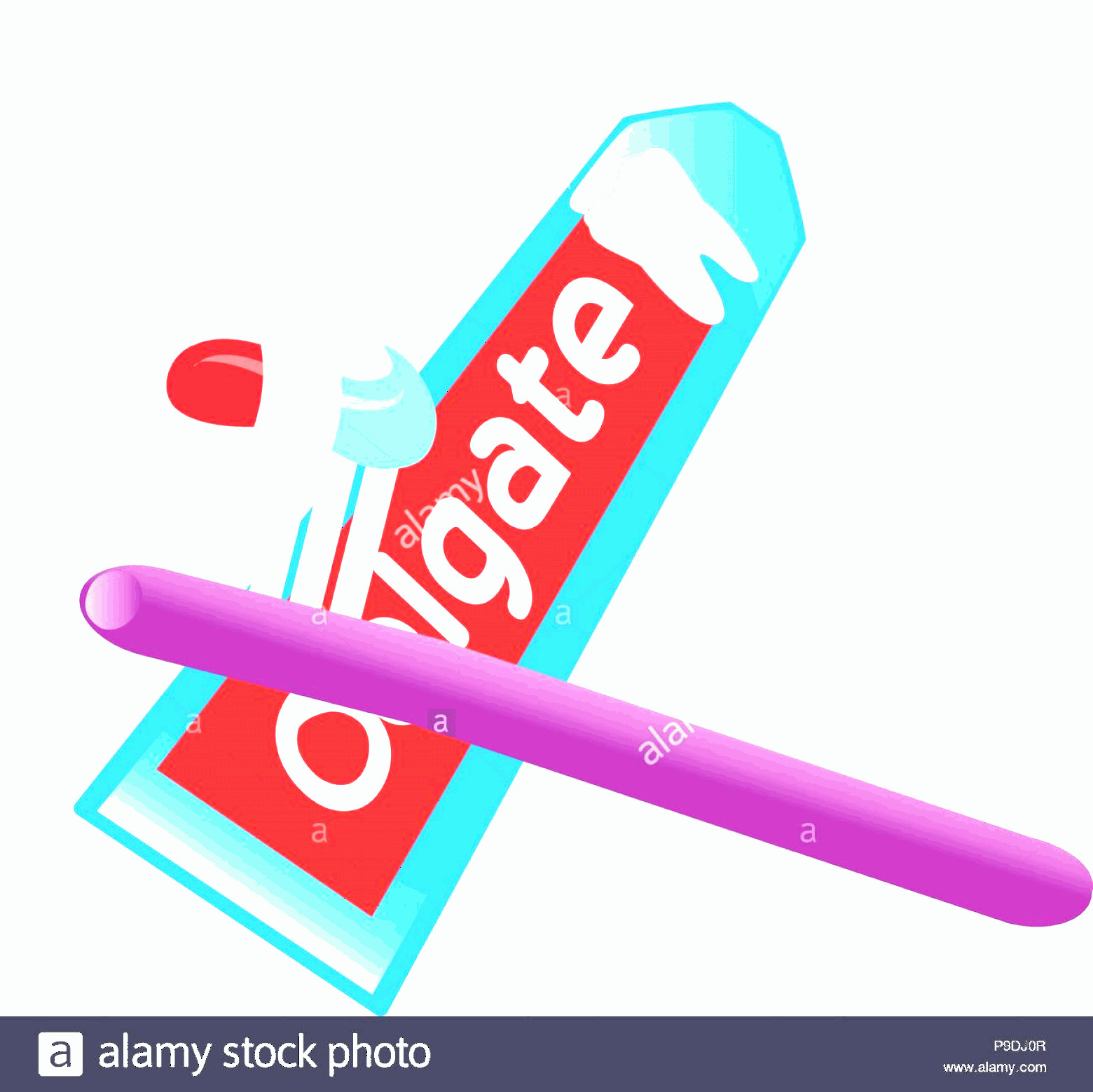 Toothpaste Cartoon Vector: Cartoon Vector Illustration Of Toothpaste And Toothbrush Image