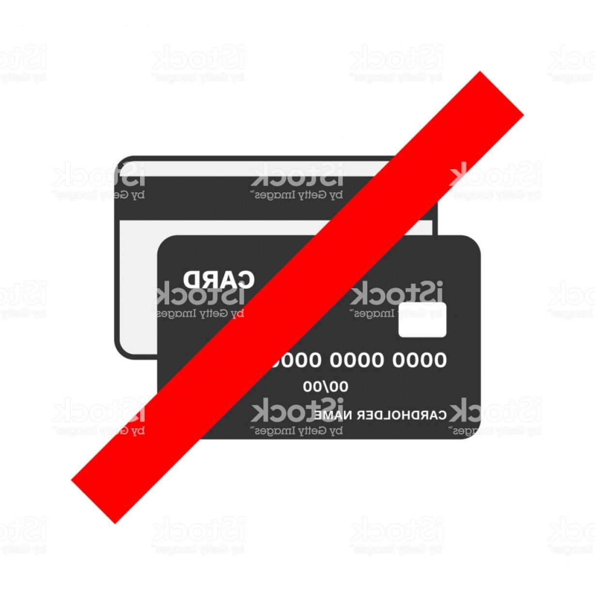 Vector Cards Accepted: Cash Only Sign No Bank Cards Accepted Crossed Out Credit Card Icon Vector Gm