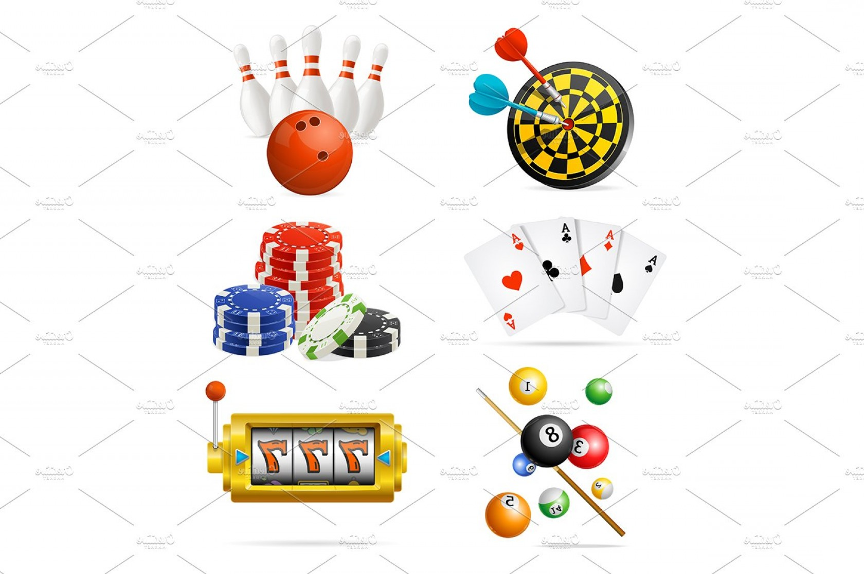 Editable Vector Poker Chips: Casino Sport And Leisure Games Set