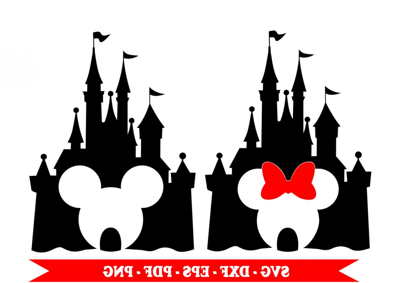 Minnie Mouse Vector Clip Art: Castle Disney Svg Mickey Mouse Minnie