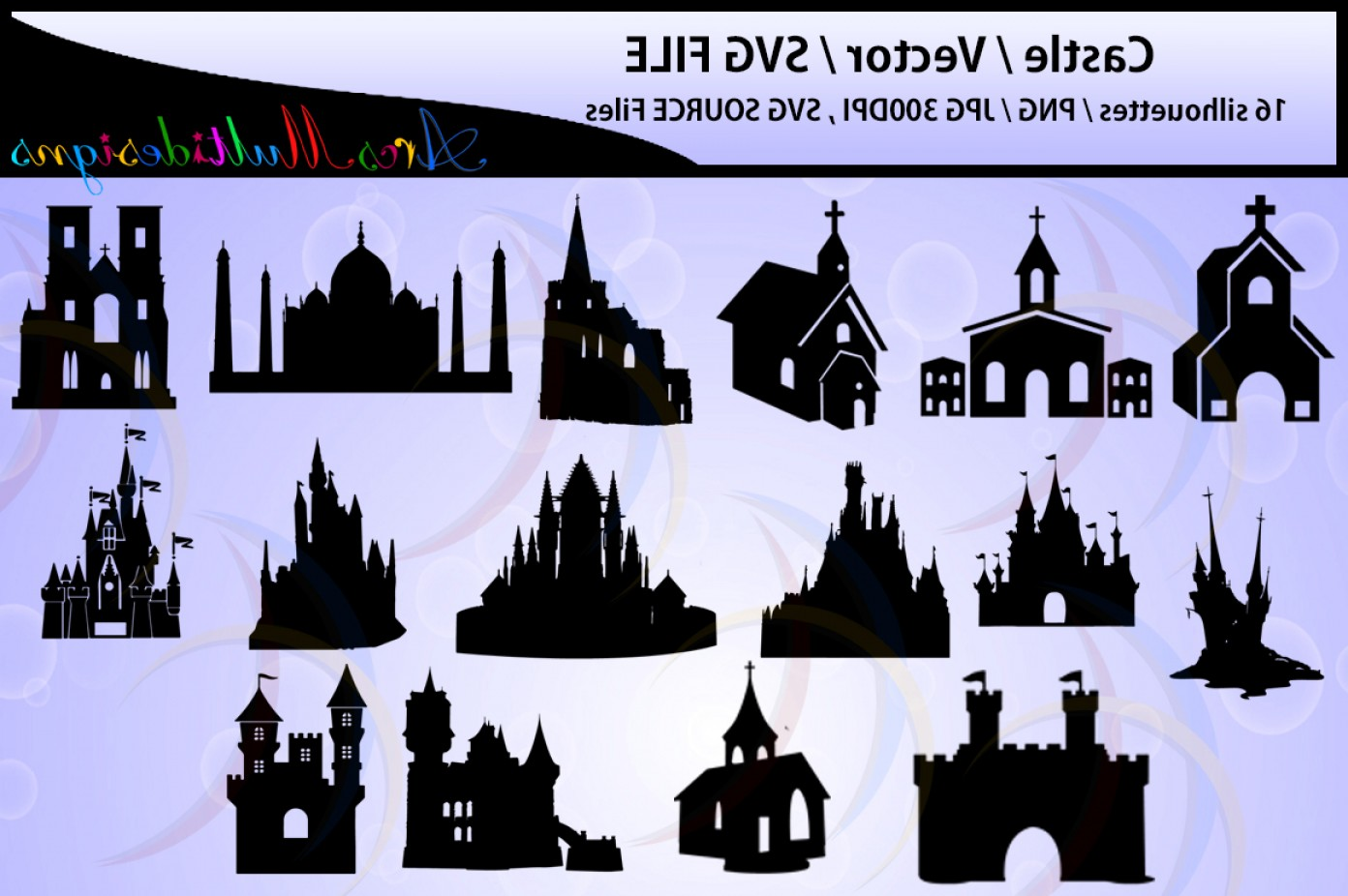 Church Silhouette Vector: Castle Silhouette Church Silhouette Vector