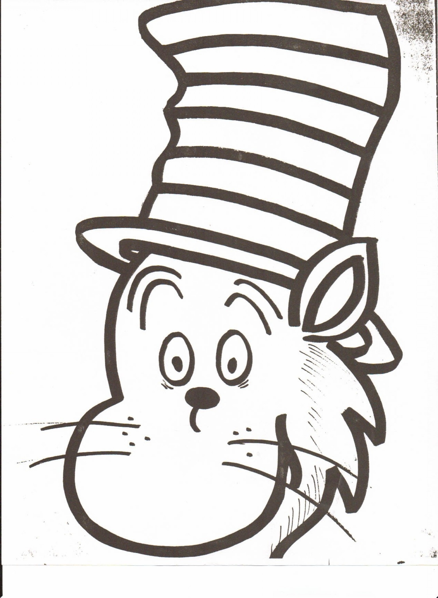 Dr. Seuss Hat Vector: Cat In The Hat Coloring Pages New Dr Seuss Hat Coloring Page Download